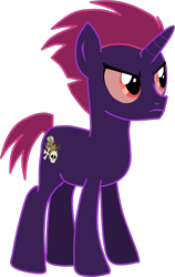 Size: 2507x3960 | Tagged: safe, artist:shadymeadow, oc, oc:nocturne jungle, pony, unicorn, male, simple background, solo, teenager, transparent background