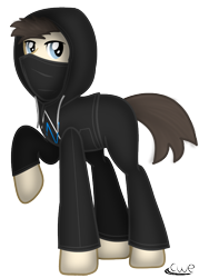 Size: 611x854 | Tagged: safe, artist:99999999000, pony, alan walker, clothes, jacket, masked, ponified, simple background, solo, transparent background