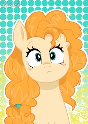 Size: 1280x1793 | Tagged: safe, artist:madkadd, pear butter, earth pony, pony, canon, solo