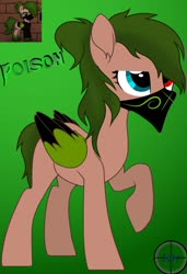 Size: 1280x1866 | Tagged: safe, artist:navyblitz, oc, oc:poison, pegasus, pony, bandana, colored wings, female, heterochromia, mare, solo, two toned wings, wings