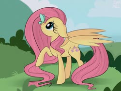 Size: 1280x960 | Tagged: safe, artist:janelearts, fluttershy, butterfly, pegasus, pony, butterfly on nose, cute, female, floppy ears, insect on nose, mare, shyabetes, solo