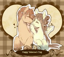 Size: 1000x900 | Tagged: safe, artist:soukitsubasa, oc, oc only, couple, cute, holiday, valentine's day
