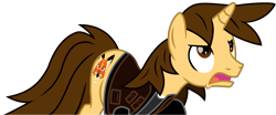 Size: 13389x5554 | Tagged: safe, alternate version, artist:ejlightning007arts, oc, oc:ej, unicorn, angry, clothes, furious, male, open mouth, simple background, stallion, transparent background, vector
