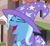 Size: 366x334   Tagged: safe, screencap, trixie, pony, unicorn, to where and back again, cropped, eyes closed, female, mare, open mouth, raised eyebrow, solo