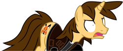 Size: 13389x5554 | Tagged: safe, alternate version, artist:ejlightning007arts, oc, oc:ej, unicorn, angry, clothes, crazy eyes, crazy face, faic, furious, male, open mouth, simple background, stallion, transparent background, vector