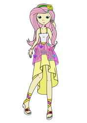 Size: 2480x3508 | Tagged: safe, artist:onlymeequestrian, fluttershy, human, equestria girls, humanized, simple background, solo, transparent background
