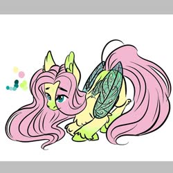 Size: 750x750 | Tagged: artist needed, source needed, safe, fluttershy, pegasus, pony, leak, spoiler:g5, butterfly wings, ear fluff, female, fluttershy (g5), g5, mare, redesign, simple background, unshorn fetlocks, white background, wings