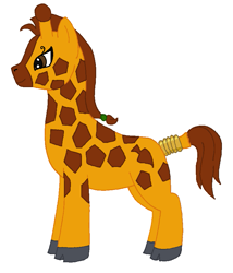 Size: 745x871   Tagged: safe, artist:chili19, oc, oc only, giraffe, female, simple background, solo, tail ring, white background