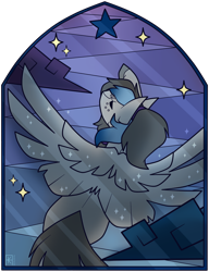 Size: 1024x1330 | Tagged: safe, artist:ak4neh, oc, oc only, oc:unknown, pegasus, pony, female, mare, simple background, solo, stained glass, transparent background