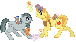 Size: 1023x567 | Tagged: safe, artist:fcrestnymph, braeburn, marble pie, braeble, crack shipping, family, female, male, offspring, parent:braeburn, parent:marble pie, parents:braeble, shipping, simple background, straight, transparent background