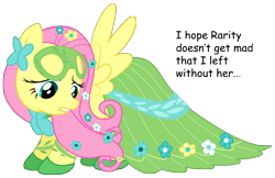 Size: 4734x3068 | Tagged: safe, artist:replaymasteroftime, fluttershy, clothes, dress, gala dress, implied rarity, mask, simple background, solo, transparent background