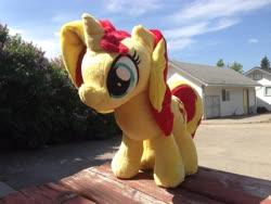 Size: 3264x2448 | Tagged: safe, artist:emberfallplush, sunset shimmer, pony, unicorn, irl, photo, plushie