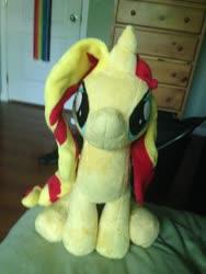 Size: 1536x2048 | Tagged: safe, artist:emberfallplush, sunset shimmer, pony, unicorn, irl, photo, plushie
