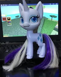 Size: 1663x2085   Tagged: safe, rarity, my little pony: pony life, irl, photo, roblox, toy