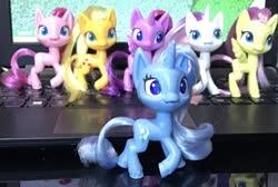 Size: 1912x1284   Tagged: safe, applejack, fluttershy, pinkie pie, potion nova, trixie, twilight sparkle, my little pony: pony life, irl, photo, toy