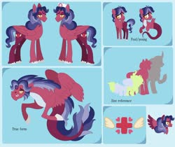 Size: 1280x1075 | Tagged: safe, artist:hope-of-morning, oc, oc only, oc:crescendo heart, pegasus, siren, fangs, fins, fish tail, gem, magical lesbian spawn, male, offspring, parent:sci-twi, parent:sonata dusk, scales, siren gem, spread wings, unshorn fetlocks, wings