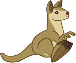Size: 1280x1062 | Tagged: safe, artist:andoanimalia, wallaroo, the best night ever, animal, hopping, jumping, show trace, simple background, solo, transparent background, vector