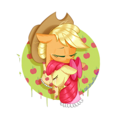 Size: 2000x2000 | Tagged: safe, artist:redheartponiesfan, apple bloom, applejack, pony, crying, implied death, simple background, transparent background