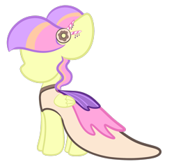 Size: 1615x1519 | Tagged: safe, artist:sugarcloud12, oc, pegasus, pony, clothes, dress, female, gala dress, mannequin, mare, simple background, solo, transparent background