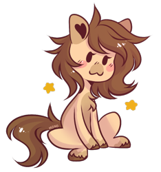 Size: 778x832 | Tagged: safe, artist:monogy, oc, oc:hope, earth pony, pony, chibi, female, mare, simple background, solo, transparent background