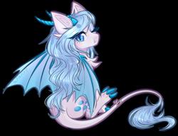 Size: 2748x2112 | Tagged: safe, artist:monogy, oc, oc:crystal vision, dracony, dragon, hybrid, pony, female, simple background, solo, transparent background