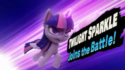 Size: 797x449 | Tagged: safe, edit, edited screencap, screencap, twilight sparkle, alicorn, pony, my little pony: pony life, potion party, flying, gif, needs more jpeg, potion, serious, serious face, smash bros., solo, speed lines, stop motion, super smash bros., twilight sparkle (alicorn)