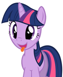 Size: 810x986 | Tagged: dead source, safe, artist:dentist73548, twilight sparkle, pony, unicorn, a bird in the hoof, delicious, hidden wings, hungry, open mouth, removed from deviantart, simple background, solo, tongue out, transparent background, unicorn twilight, vector