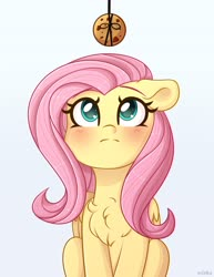 Size: 3157x4096 | Tagged: safe, artist:ev04ka, artist:ev04kaa, fluttershy, pegasus, pony, blushing, chest fluff, cookie, cute, female, floppy ears, food, high res, mare, rcf community, shyabetes, solo