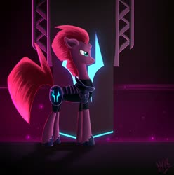 Size: 1920x1938 | Tagged: safe, artist:jphyperx, tempest shadow, pony, unicorn, my little pony: the movie, broken horn, horn, solo, storm king's emblem, storm king's ship
