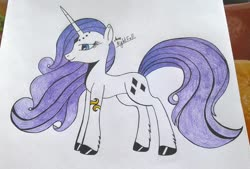Size: 1902x1289 | Tagged: source needed, safe, artist:annanightfall, rarity, pony, unicorn, leak, spoiler:g5, female, g5, mare, rarity (g5), redesign, solo, traditional art