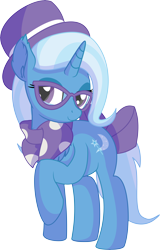 Size: 5144x8047 | Tagged: safe, artist:cyanlightning, trixie, pony, unicorn, .svg available, absurd resolution, chest fluff, clothes, ear fluff, female, hat, hipster, lidded eyes, mare, open mouth, scarf, simple background, solo, transparent background, vector