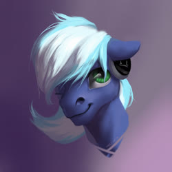 Size: 2756x2756 | Tagged: artist needed, safe, artist:marinavermilion, oc, oc only, oc:moonlight drop, pegasus, pony, bust, cute, green eyes, happy, headphones, looking at you, male, one eye closed, portrait, realistic, solo, stallion, wink