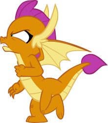Size: 5165x5846 | Tagged: safe, artist:memnoch, smolder, dragon, sweet and smoky, spoiler:s09e09, simple background, solo, transparent background, vector