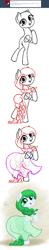 Size: 954x4861 | Tagged: safe, artist:nimaru, oc, oc:winter willow, pegasus, pony, bald, clothes, dress, female, mare, sketch, solo
