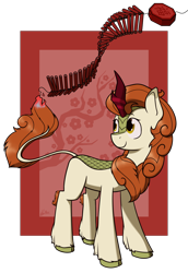 Size: 2000x2900 | Tagged: safe, artist:alexi148, autumn blaze, kirin, pony, chinese, chinese new year, female, fire, firecracker, high res, lunar new year, mare, solo