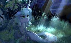 Size: 1167x721 | Tagged: safe, artist:tingsan, princess luna, alicorn, pony, crepuscular rays, crown, female, floppy ears, hoof shoes, jewelry, leaf, leaves, mare, prone, regalia, s1 luna, solo