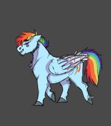Size: 1060x1200 | Tagged: safe, artist:rahartist, rainbow dash, pegasus, pony, female, hooves, mare