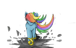 Size: 920x579 | Tagged: safe, artist:72-hours-remain, rainbow dash, pegasus, pony, awesome, badass, female, mare, walking