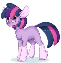 Size: 931x960 | Tagged: artist needed, source needed, safe, twilight sparkle, earth pony, pony, leak, spoiler:g5, earth pony twilight, female, g5, hooves, mare, redesign, smiling, solo, twilight sparkle (g5)