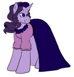 Size: 928x971 | Tagged: safe, artist:usagi-kinnie, rarity, pony, unicorn, beauty mark, blouse, clothes, female, jewelry, mare, necklace, part of a set, redesign, simple background, skirt, smiling, solo, transparent background