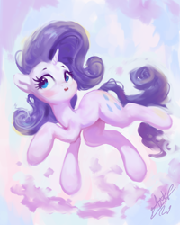 Size: 768x960 | Tagged: safe, artist:assasinmonkey, rarity, pony, unicorn, cute, digital art, female, mare, open mouth, raribetes, solo