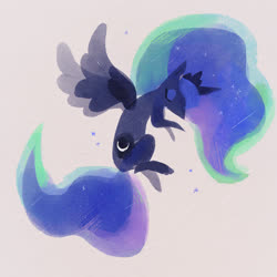 Size: 2048x2048 | Tagged: safe, artist:ieafy, princess luna, alicorn, pony, eyes closed, female, gray background, mare, simple background, solo