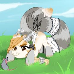 Size: 512x512 | Tagged: safe, artist:nika-rain, oc, mouse, pony, chibi, commission, cute, female, pixel art, solo