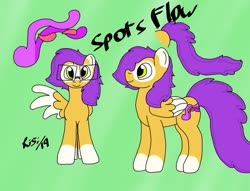 Size: 941x720 | Tagged: safe, artist:risithecheetah, oc, oc:spotsflow, pegasus, pony, cute, cutie mark, glasses, long tail, original character do not steal, prehensile tail, reference sheet, singing, solo, uwu, vanhoover