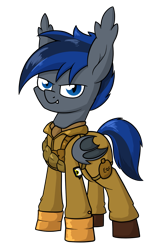 Size: 1069x1588 | Tagged: safe, artist:moonatik, oc, oc only, oc:fang, bat pony, pony, bat pony oc, boots, clothes, gloves, male, military uniform, paratrooper, raffle prize, shoes, simple background, soldier, solo, stallion, transparent background
