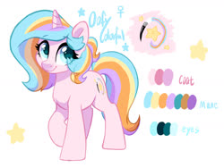 Size: 1600x1200 | Tagged: safe, artist:colorfulcolor233, oc, oc only, oc:oofy colorful, pony, unicorn, reference sheet, solo