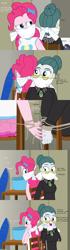 Size: 473x1690 | Tagged: safe, artist:robukun, cloudy quartz, pinkie pie, equestria girls, chair, comic, equestria girls-ified, gag, tied up
