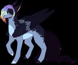 Size: 1920x1614 | Tagged: safe, artist:sleepy-nova, oc, pegasus, pony, magical lesbian spawn, male, offspring, parent:princess luna, parent:rainbow dash, parents:lunadash, simple background, solo, stallion, transparent background
