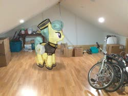 Size: 2046x1536 | Tagged: safe, cinnabar, golden hooves, quicksilver, crystal pony, pony, augmented reality, gameloft, irl, photo