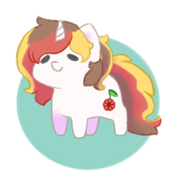 Size: 800x800 | Tagged: safe, artist:bubblegum, oc, oc only, oc:scarlet serenade, pony, unicorn, chibi, cute, female, feral, mare, simple background, solo, standing, transparent background